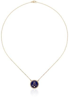 Foundrae Karma Petite Champleve Stationary Necklace