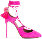 Dolce & Gabbana pompom tassel tie pumps - women - Leather/Suede - 36