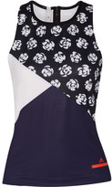 adidas by Stella McCartney Printed Climalite Stretch Tank - Midnight blue