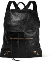 Balenciaga Traveller Textured-leather Backpack - Black
