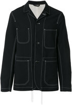 Joseph contrast stitch jacket - men - Virgin Wool - 46