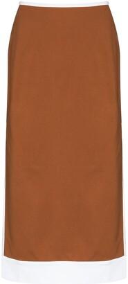 STAUD Desmond high-waist midi skirt