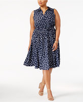 Charter Club Plus Size Pineapple-Print Shirtdress, Created for Macy's