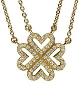 Vanessa Tugendhaft Love Trfle Ajour – TA5 – Idylle – Women – Necklace – 2 chainettes – 40.5 cm Adjustable 40 Yellow Gold Diamonds and 39.5 cm