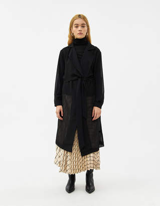 Farrow Edith Sheer Trench Jacket in Black