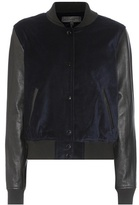 Rag & Bone Camden velvet and leather bomber jacket