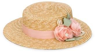 Lula Abel & woven flower sun hat