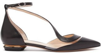 Nicholas Kirkwood S Illusion Leather Flats - Black Gold