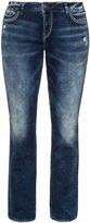 Silver Jeans Plus Size Distressed boot cut jeans