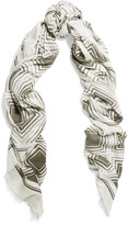 Anya Hindmarch Diamonds printed modal and cashmere-blend scarf