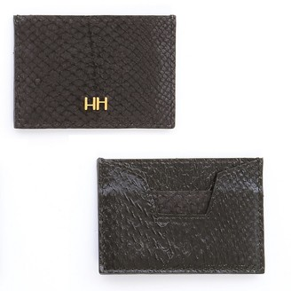 Aitch Aitch The Abigail Cardholder In Midnight With Brass Hardware