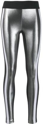 NO KA 'OI No Ka' Oi side stripe metallic leggings