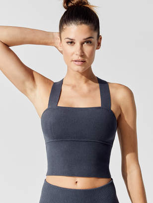 Carbon38 Thick Ribbed Crossback Longline Sweater Bra