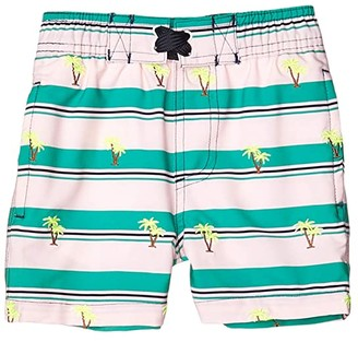 Shade Critters Embroidered Palms Swim Trunks (Infant/Toddler) (Green) Boy's Swimwear