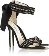 Brian Atwood Crystal-embellished suede sandals