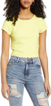 Only Kitty Lettuce Edge Crop Top