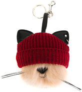 Stella McCartney beanie cat keyring - women - Artificial Fur/Polyurethane/Wool - One Size