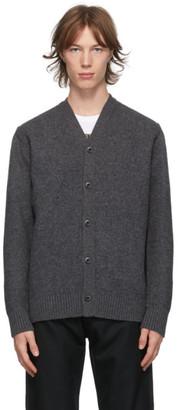 Junya Watanabe Grey Wool and Nylon Weather Cardigan