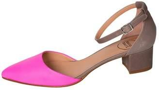 Manu Mari Hot-Pink, Court, Block-Heel