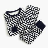 J.Crew Girls' pajama set in heart print