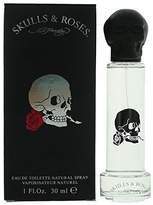 Ed Hardy Skulls & Roses Eau de Toilette Spray for Men, 1.0 Ounce