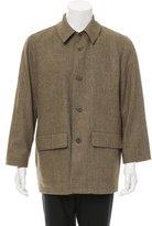 Ermenegildo Zegna Wool Windowpane Coat