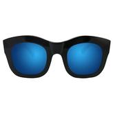 Illesteva Hamilton - Black with Blue Mirrored Lenses