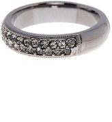 Nadri Black Rhodium Simulated Diamond Embellished Band Ring - Size 6