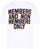 Stella McCartney white members print t-shirt