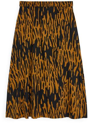 Arket Wrap-Style Jersey Skirt