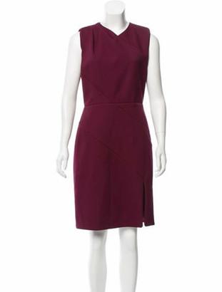 Elie Saab Sleeveless Knee-Length Dress w/ Tags Purple