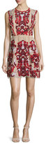 Parker Rosewell Embroidered Dress, Cordovan
