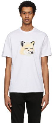 MAISON KITSUNÉ Off-White Pastel Fox Head T-Shirt