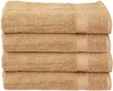 Ringspun Cotton Large Hand Towels (Beige, 4-Pack,16 x 28 inches) - Multipurpose Use for Bath, Hand, Face, Gym and Spa- By Utopia Towels