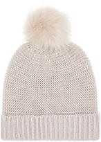 Accessorize Pretty Metallic Pom Beanie Hat