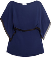 Vionnet Layered stretch-silk top