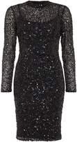 Adrianna Papell Long sleeve sequin dress