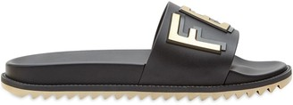 Fendi Logo Embossed Sandals