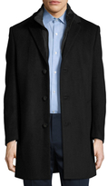 Hart Schaffner Marx Wool Detachable Bib Top Coat