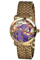 Didi Peacock Engraved Mother of Pearl Dial Gold-tone Steel Case Ladies Watch