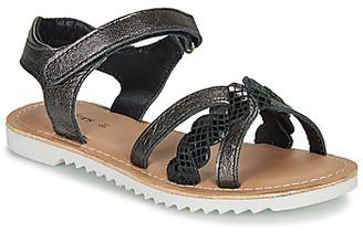 Kickers SHARKKY girls's Sandals in Black