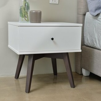 Union Rustic Paulson Bedside 1 Drawer Nightstand Color: White