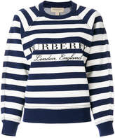 Burberry striped logo print sweatshirt