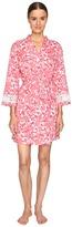 Oscar de la Renta Printed Pima Cotton Wrap Women's Pajama
