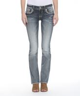 Vigoss Light Wash Faux Flap-Pocket Dallas Bootcut Jeans