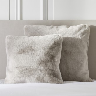 The White Company Supersoft Faux Fur Accent Pillowcase