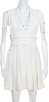 Preen by Thornton Bregazzi White Stretch Bandeau Harness Dress L