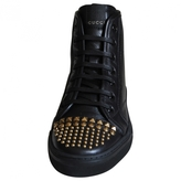 Gucci Black Leather Trainers