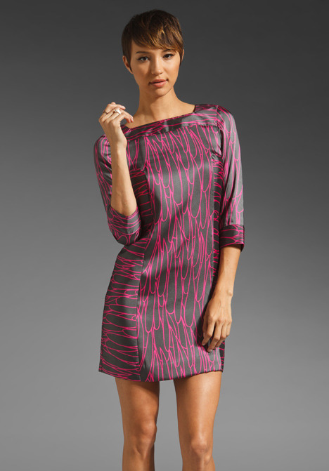 Milly Keire Scribble Raindrops Shift Dress