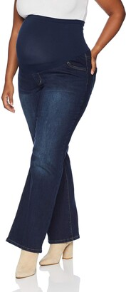 Motherhood Maternity Women's Maternity Indigo Blue Plus-Size Stretch Secret Fit Belly Boot Cut Jean